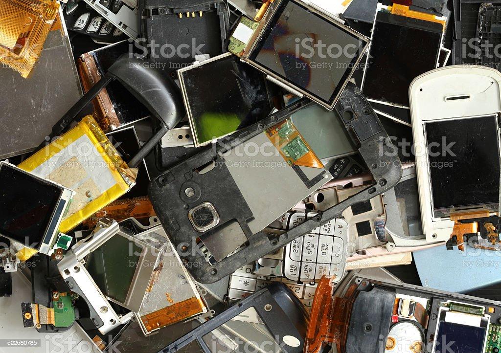 Mobile phone scrap stock photo