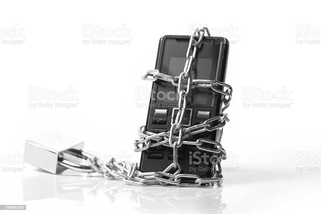 Mobile phone security royalty-free stock photo