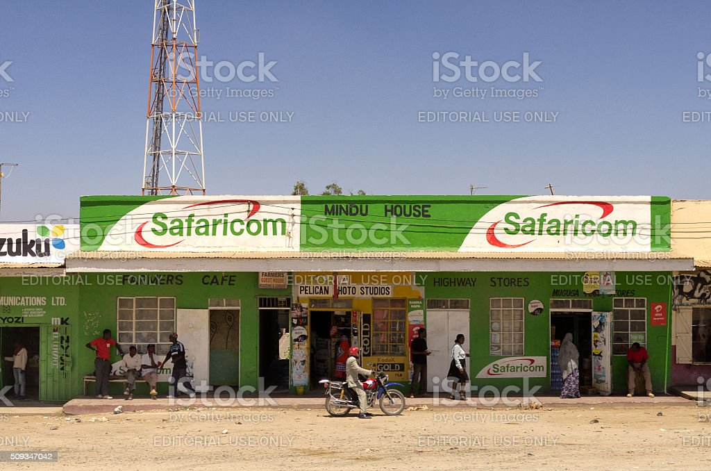 Mobile Phone Technogy in East Africa stock photo