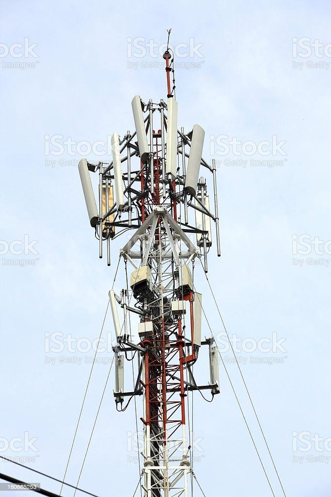 mobile phone Telecommunication Radio antenna Tower royalty-free stock photo