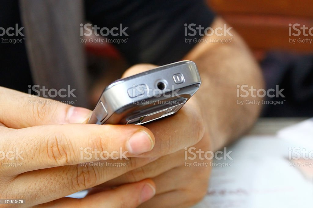 Mobile phone usage royalty-free stock photo