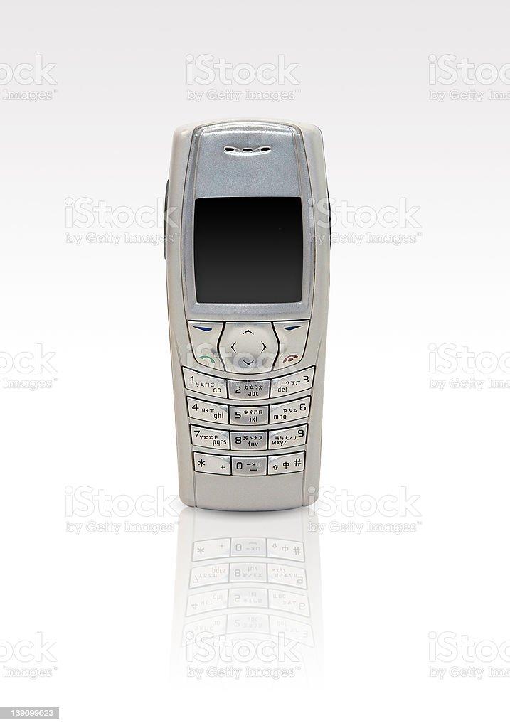 Mobile phone - white background royalty-free stock photo