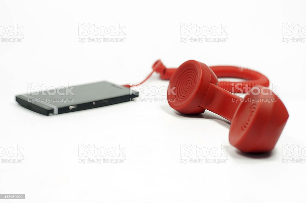Mobile phone with an extension handset royalty-free stock photo