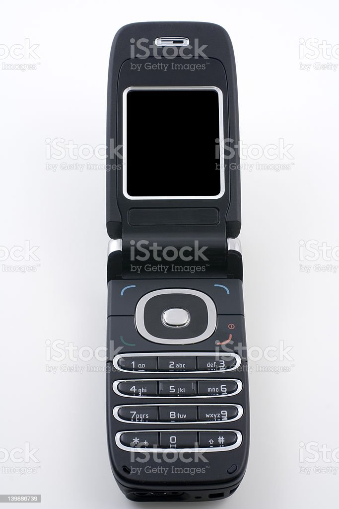 Mobile phone with clipping path stock photo