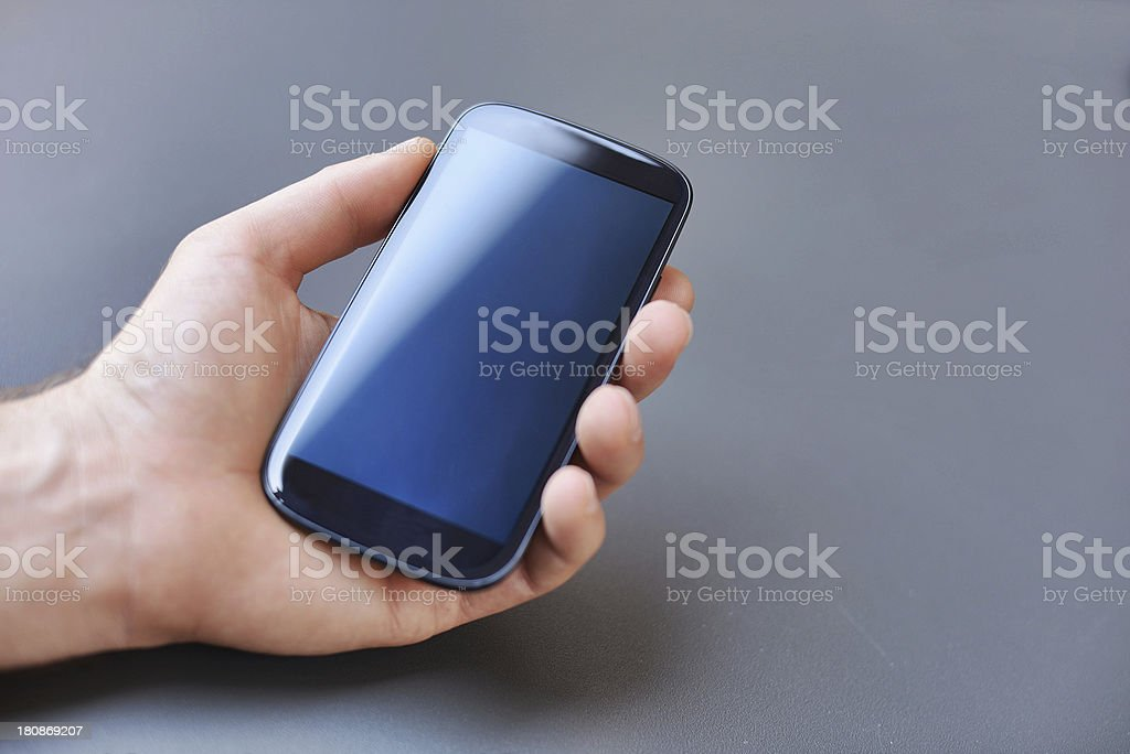 Mobile Phone with Copyspace stock photo