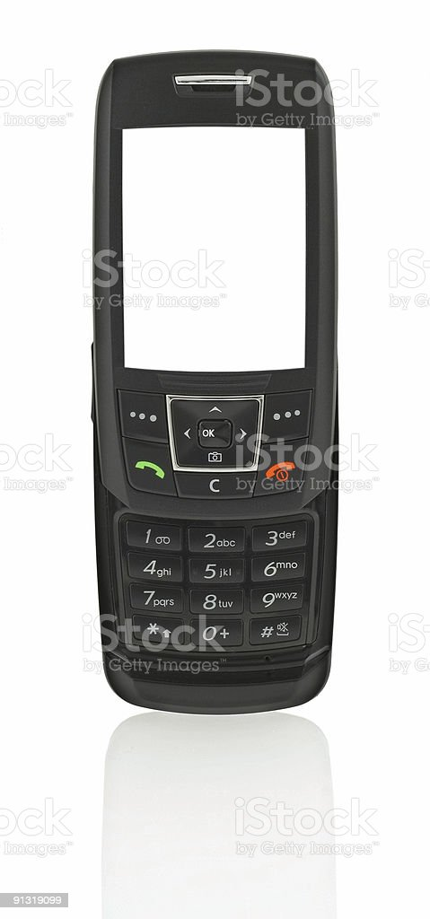 mobile phone with hollow screen stock photo