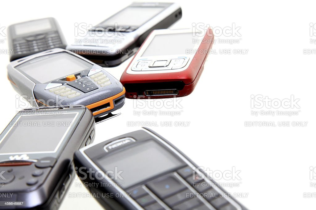 Mobile phones royalty-free stock photo