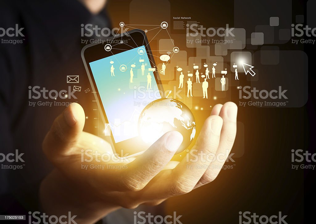 Mobile phones technology business concept stock photo
