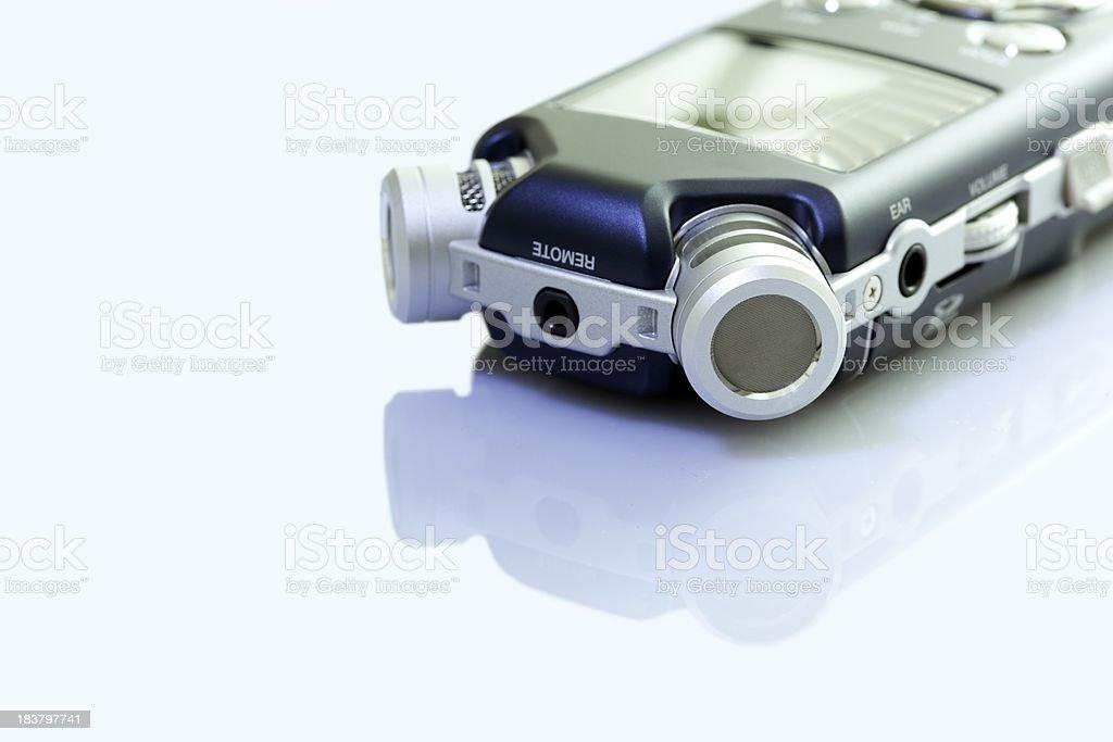 mobile recorder stock photo