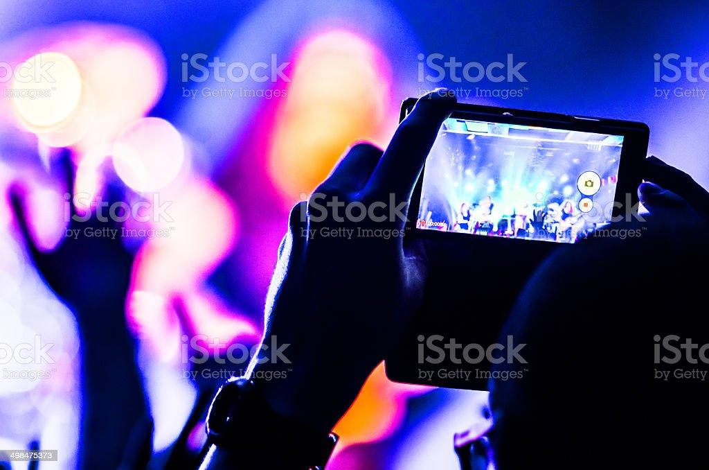 mobile recording stock photo