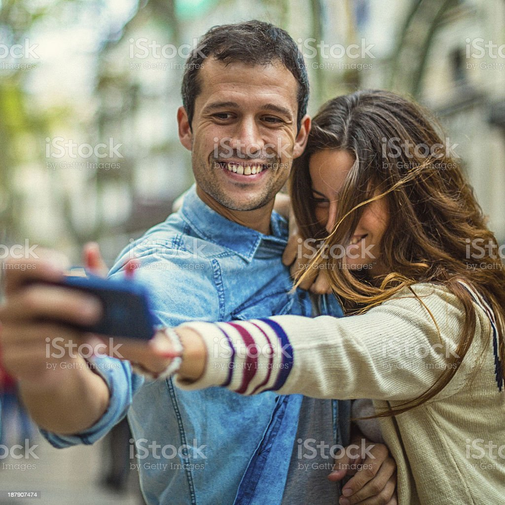 Mobile Self-portrait royalty-free stock photo