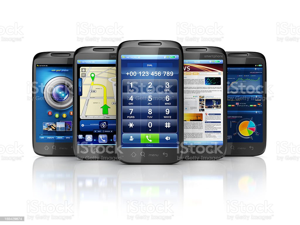 mobile services & user interface apps royalty-free stock photo