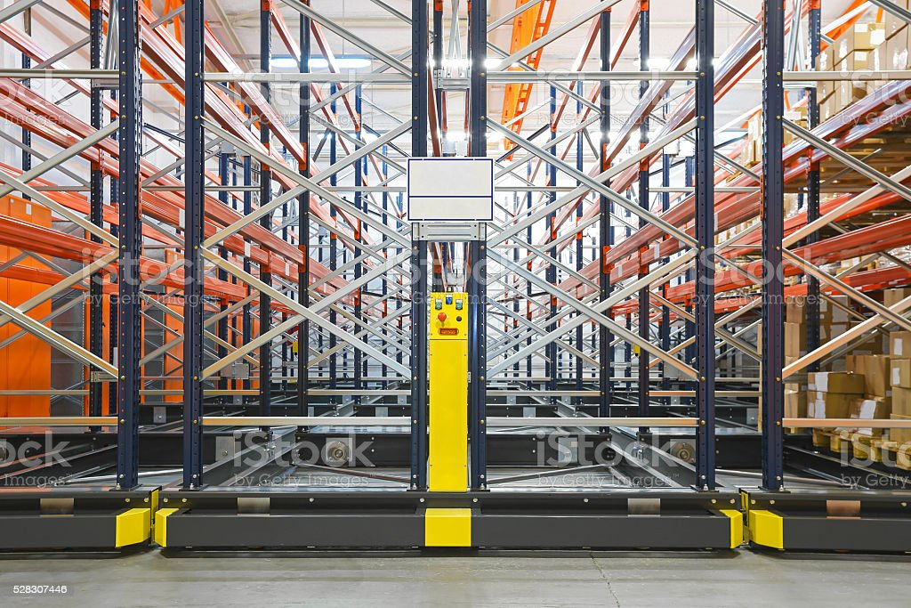 Mobile Shelving Systems stock photo