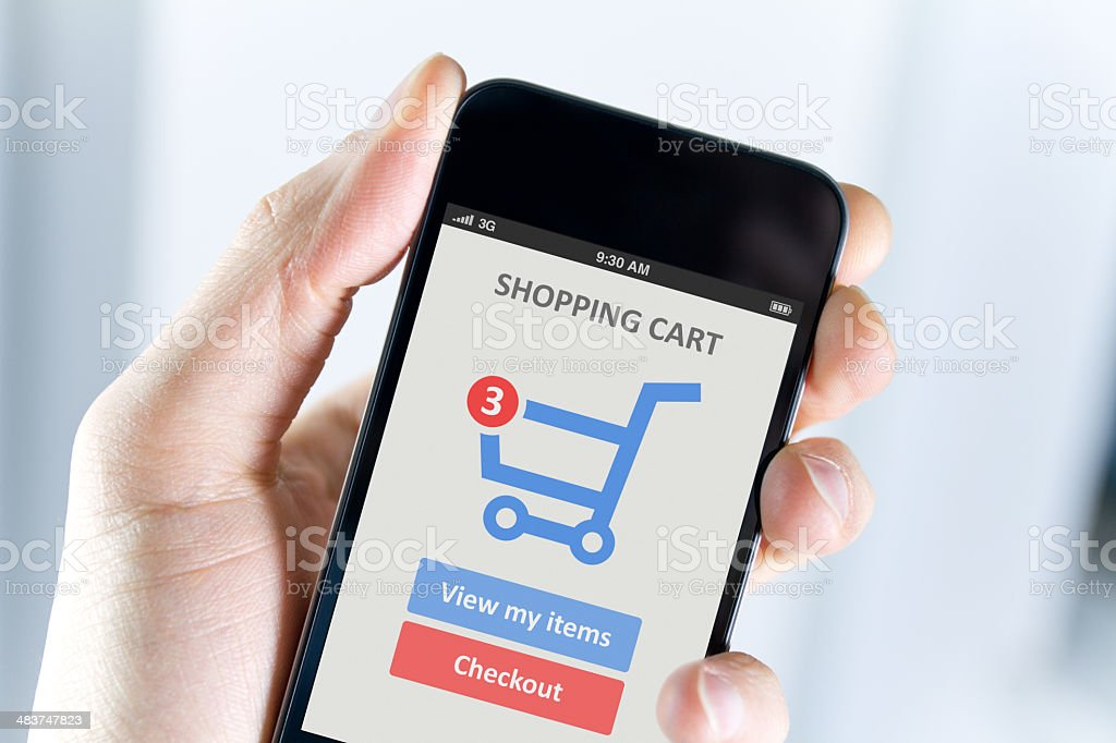 Mobile shopping royalty-free stock photo