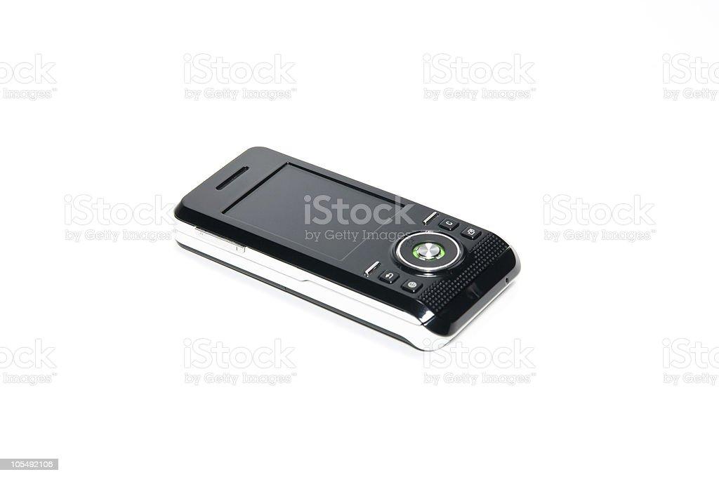Mobile telephone of black stock photo