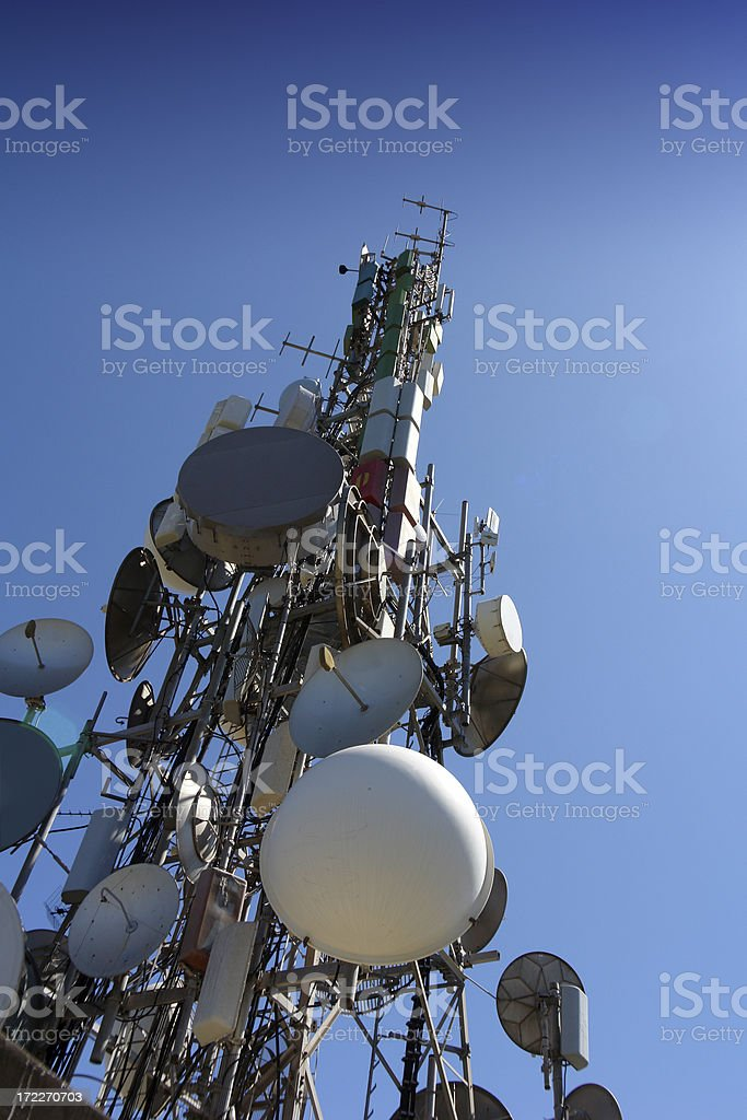 Mobile telephones tower royalty-free stock photo