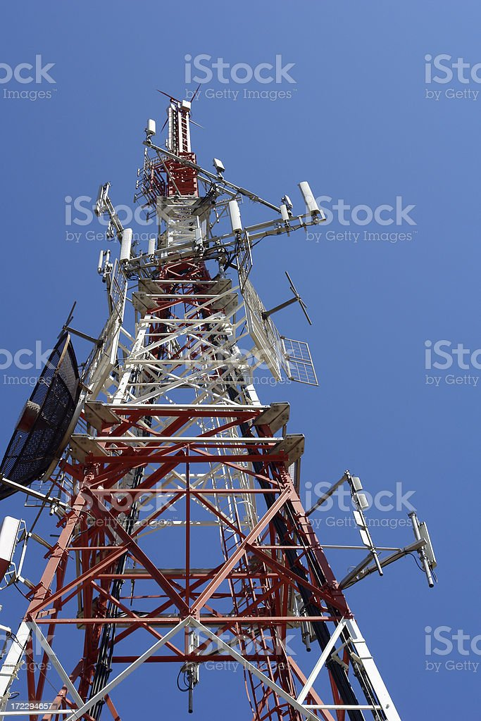 Mobile telephones tower stock photo