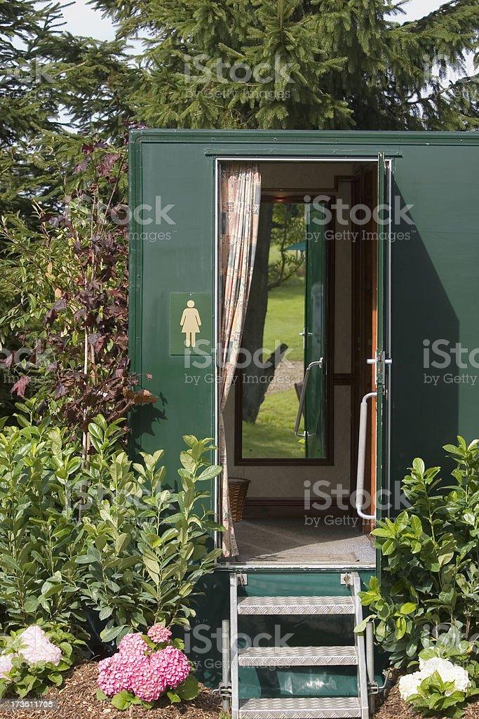Mobile Toilet royalty-free stock photo
