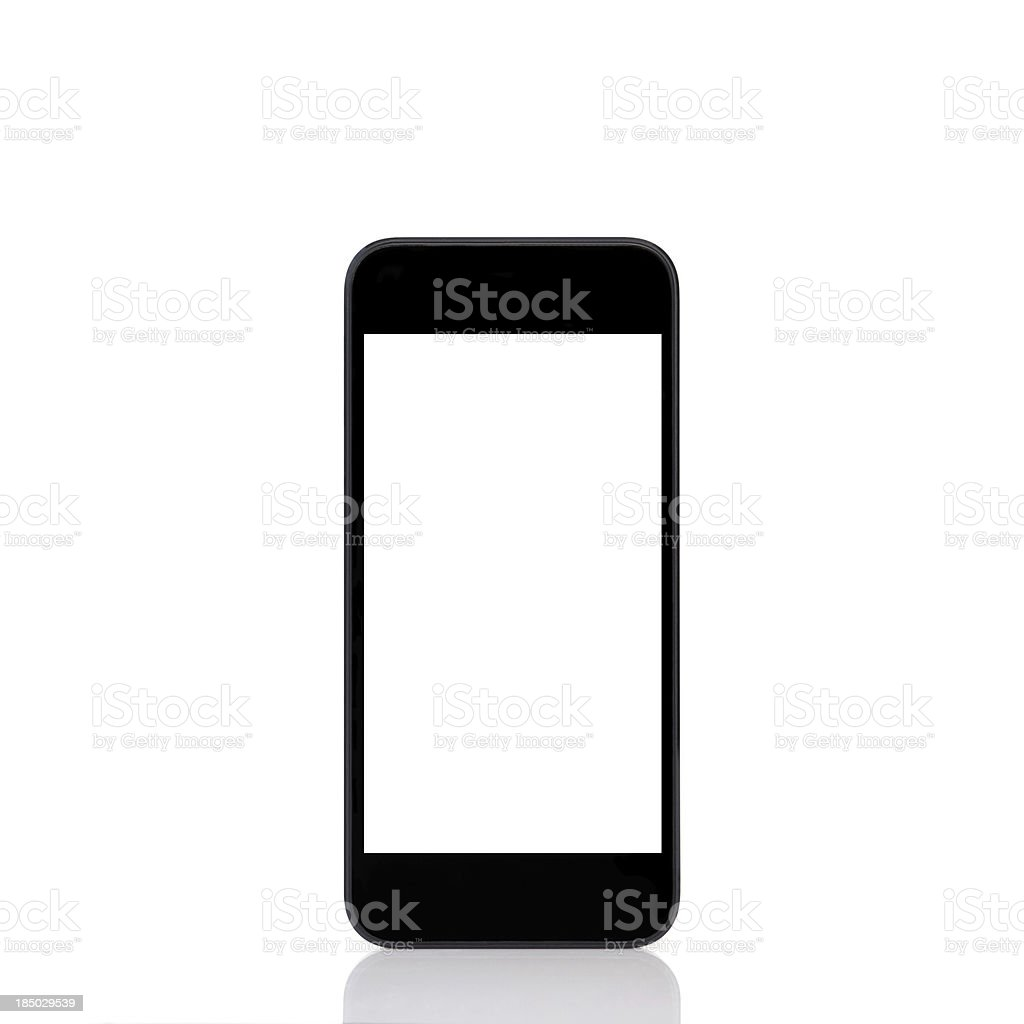 mobile touch phone with isolated screen royalty-free stock photo