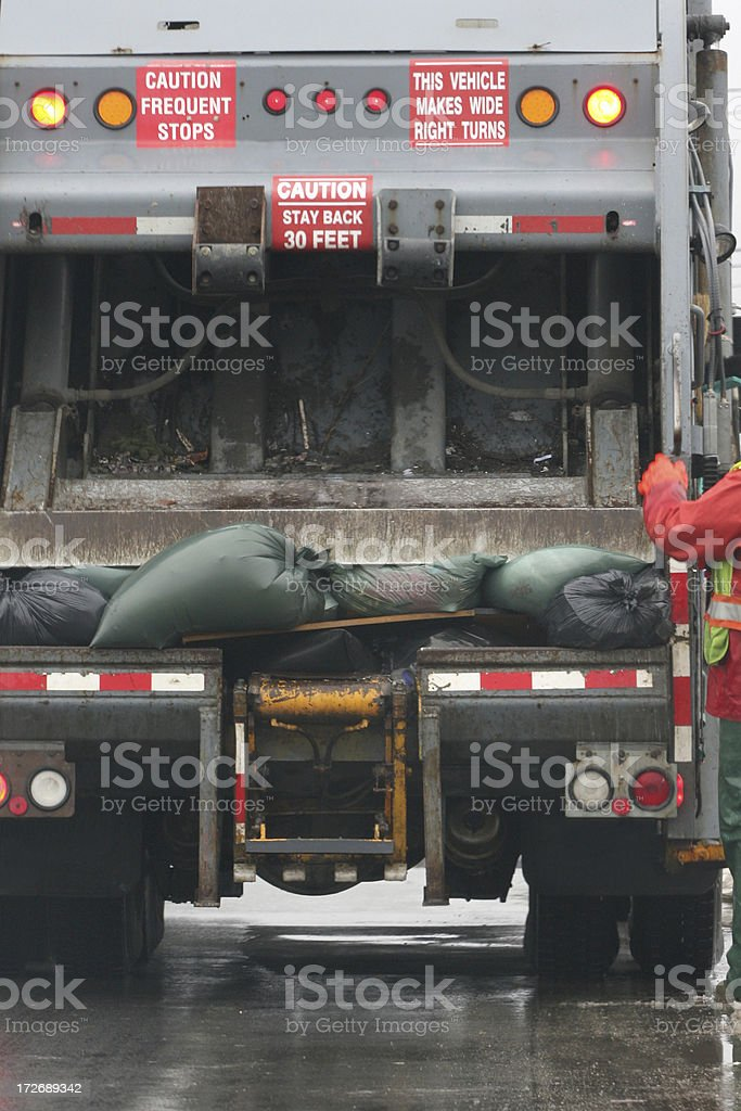 Mobile Trash Compactor royalty-free stock photo