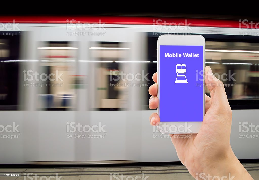 mobile wallet stock photo