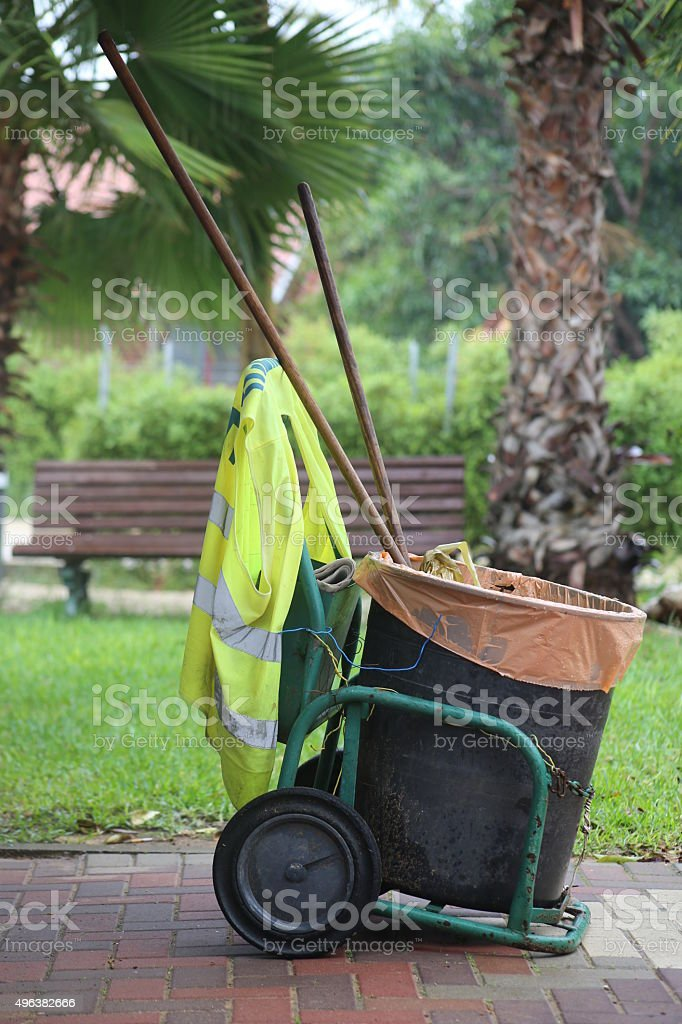 Mobile Waste Can stock photo