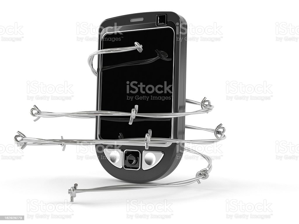 Mobilephone problem royalty-free stock photo