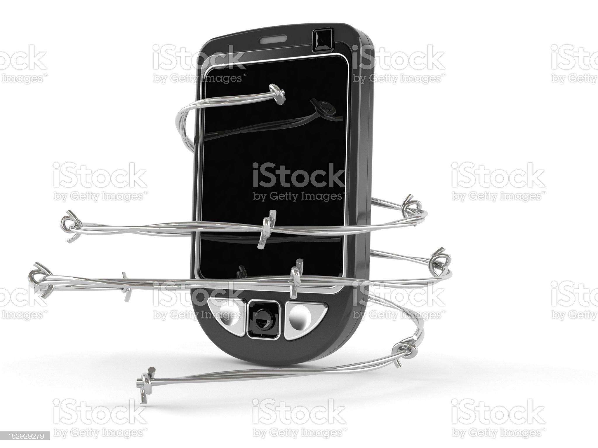 Mobilephone problem royalty-free stock photo