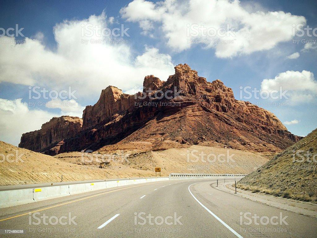 mobilestock desert road trip stock photo