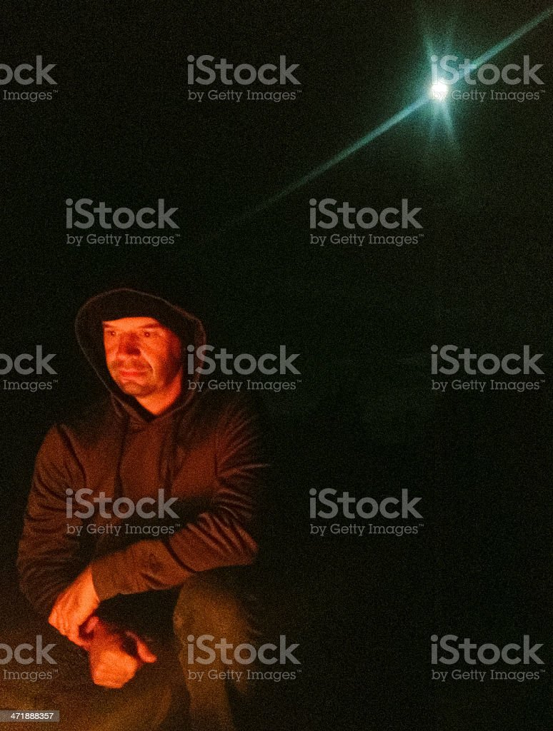 mobilestock fire man and moon royalty-free stock photo