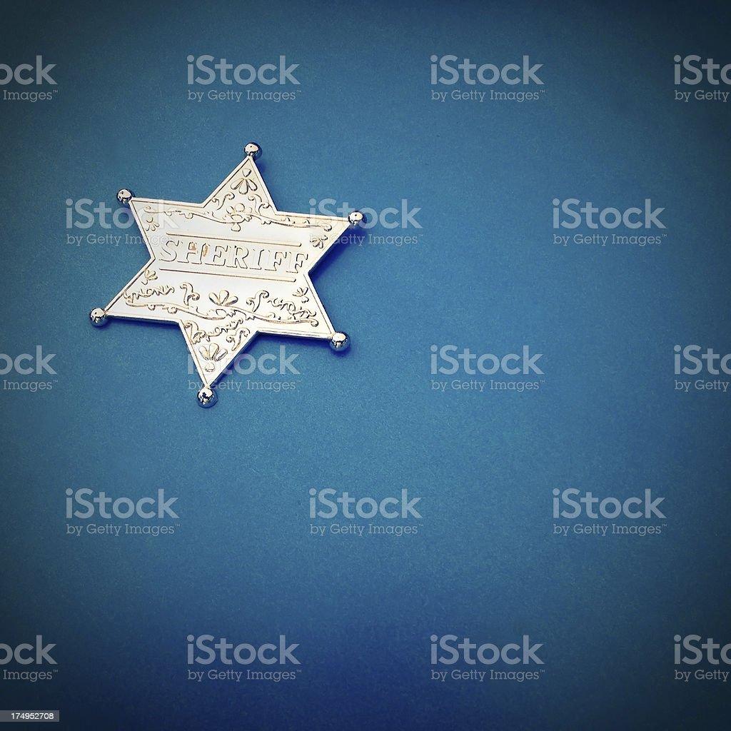 Mobilestock Toy sheriff's badge royalty-free stock photo