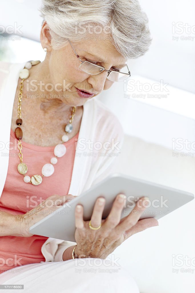 Mobility and connectivity - Seniors/Technology royalty-free stock photo