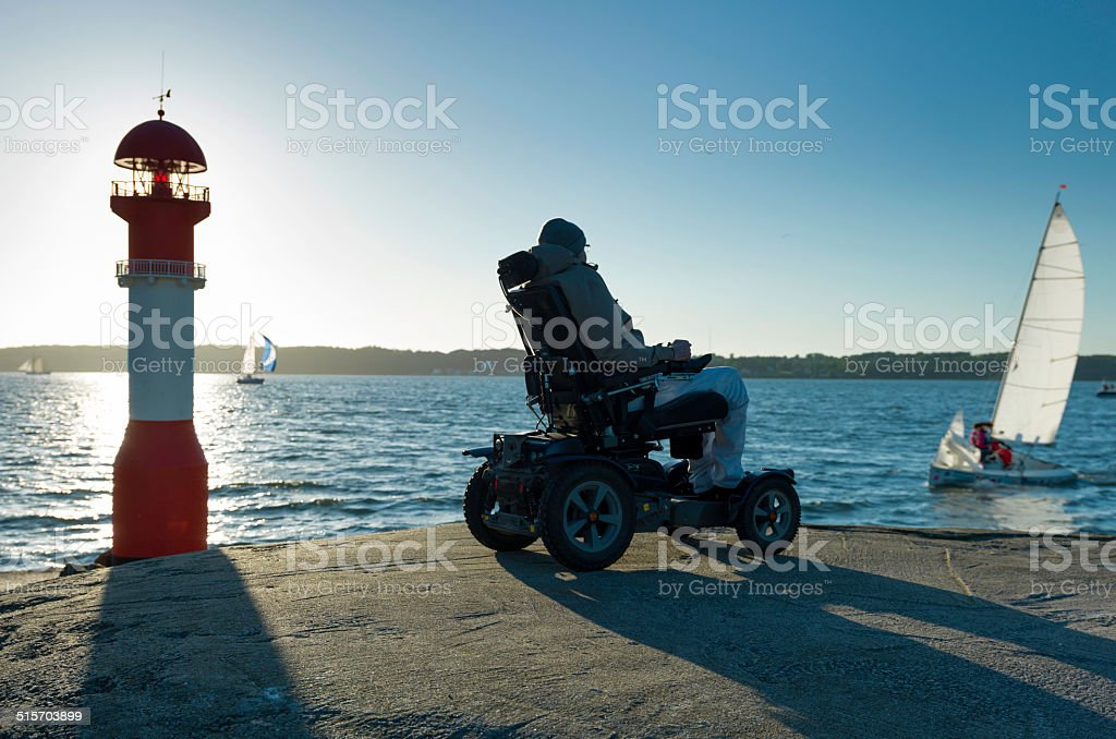 mobility and independent living stock photo