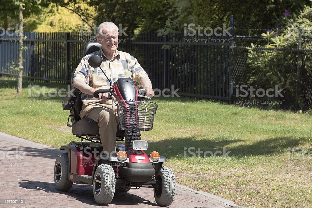 mobility scooter stock photo