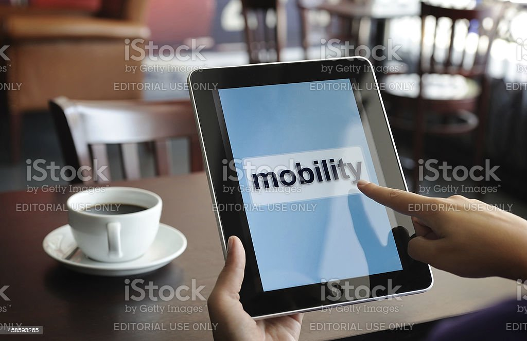 Mobility with iPad royalty-free stock photo