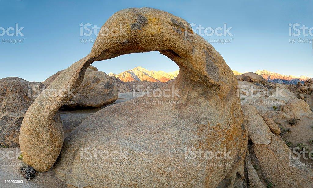 Mobius Arch, Alabama Hills stock photo