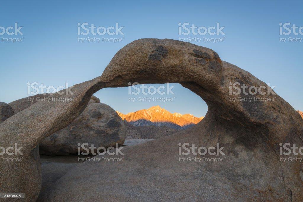 Mobius Arch Sunrise stock photo