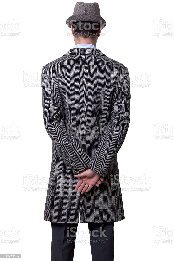 Mobster Back stock photo