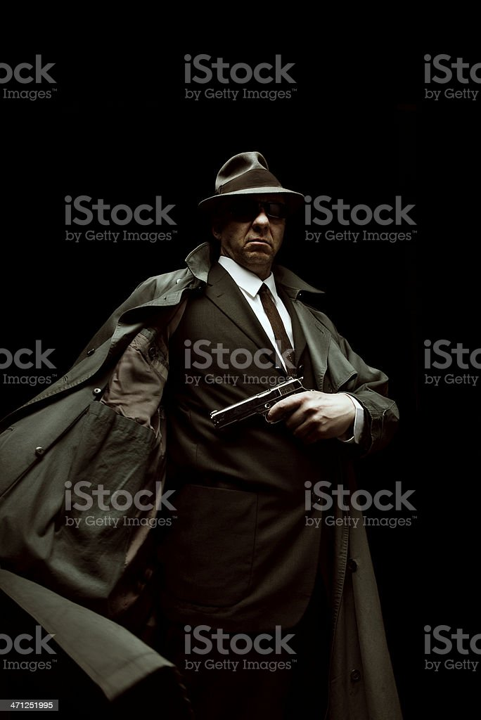 Mobster Portrait stock photo