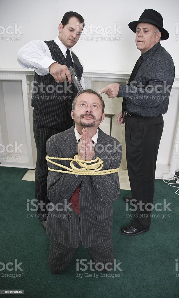 Mobster Training royalty-free stock photo