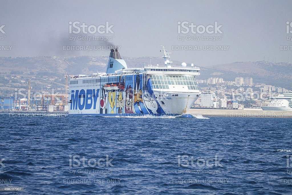 Moby Prince Ferry boat heading Sardinia royalty-free stock photo