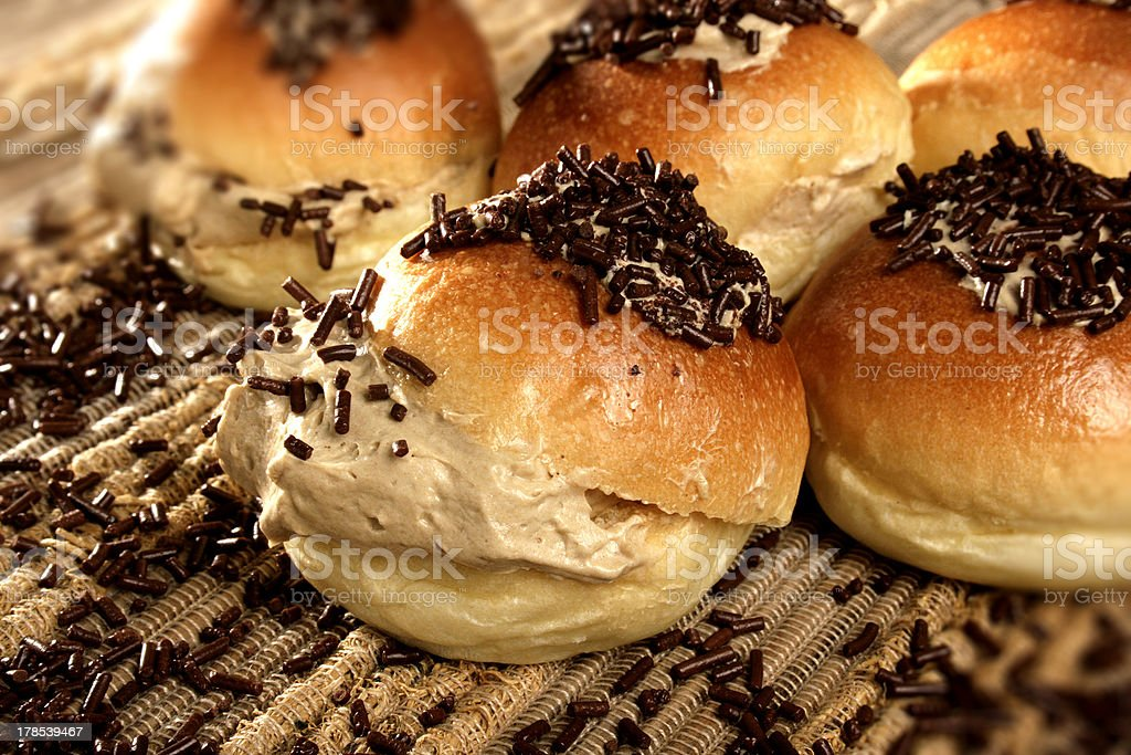 mocca bread with Chocolate royalty-free stock photo