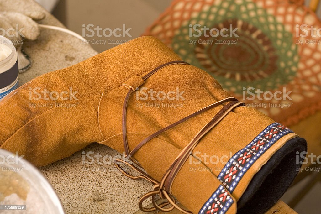 Moccasin art royalty-free stock photo