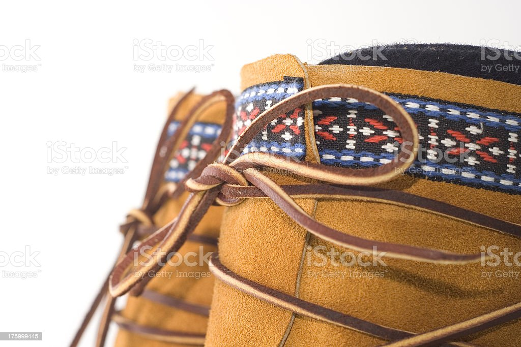 Moccasin closeup royalty-free stock photo