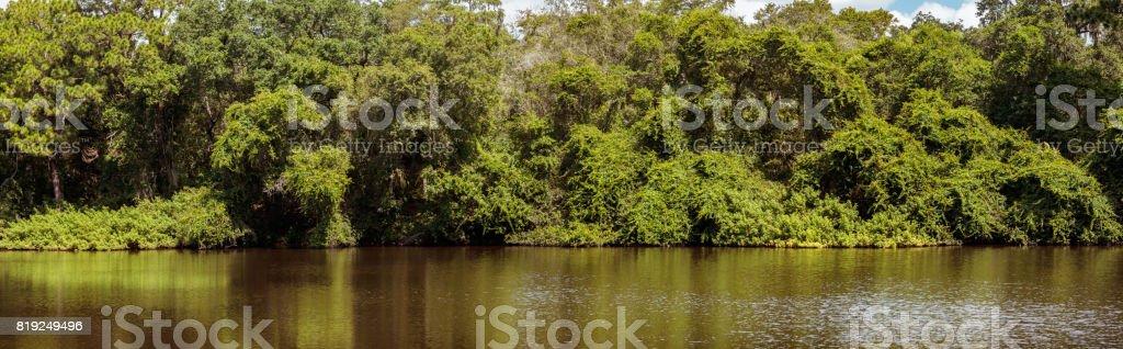 Moccasin Lake Nature park lake panorama photo stock photo