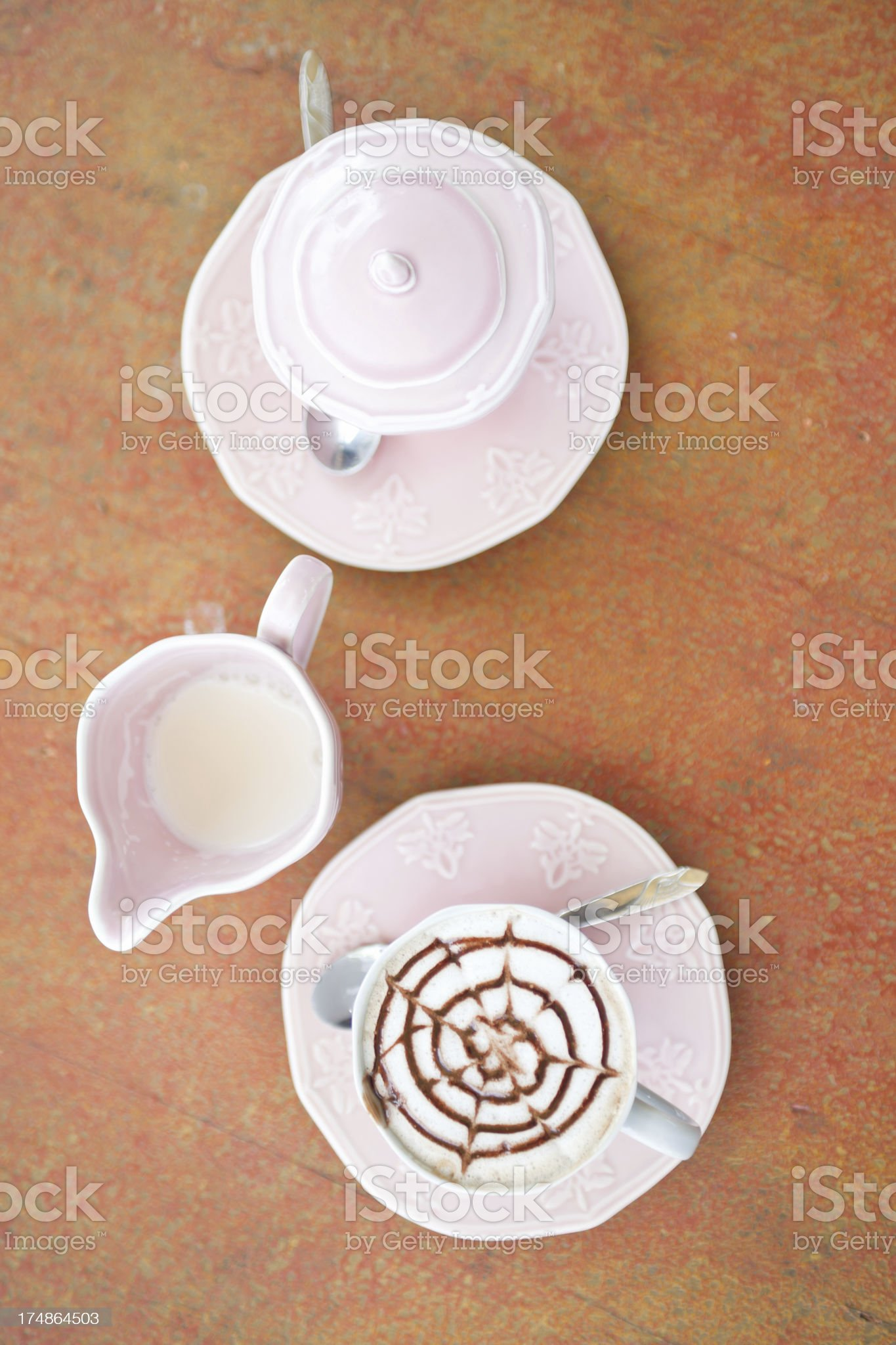 Mocha Coffee with Milk and Sugar royalty-free stock photo