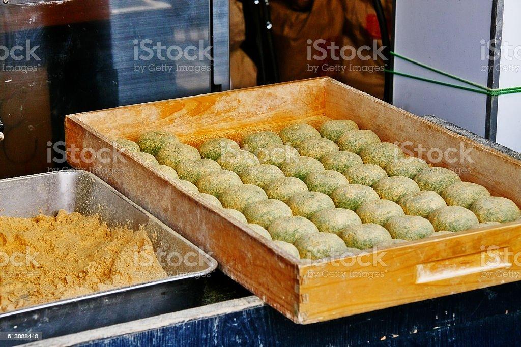 Mochi, the famous sweet of Nara, Kansai region, Japan stock photo