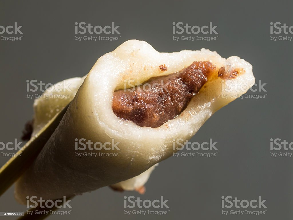 Mochi with Anko a traditional sweet in Japan stock photo