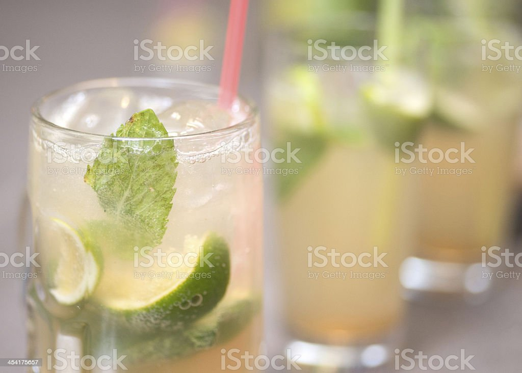 mochito cocktail at party stock photo