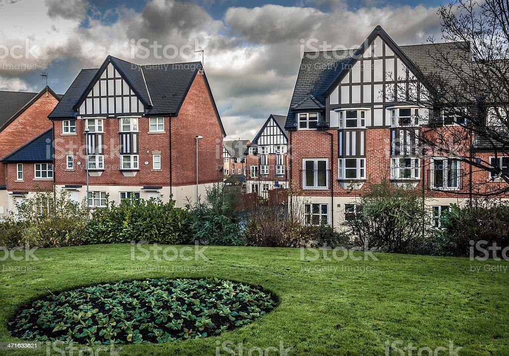 Mock Tudor Houses royalty-free stock photo